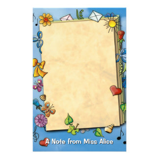 Unique kids note stationery