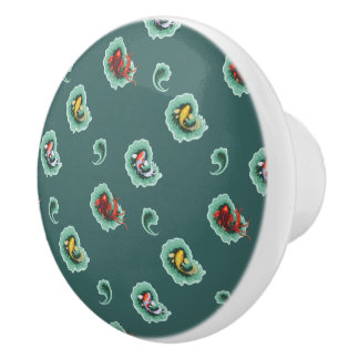 Unique Koi Fish Design Ceramic Knob