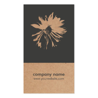 Unique Kraft Paper Flower Pattern Floral Design Pack Of Standard Business Cards
