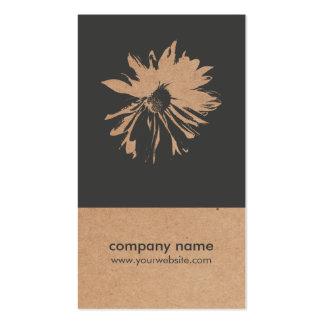 Unique Kraft Paper Flower Pattern Floral Design Pack Of Standard Business Cards