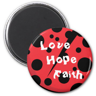 Unique lady bug designs magnet