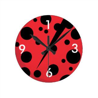 Unique lady bug designs wall clock