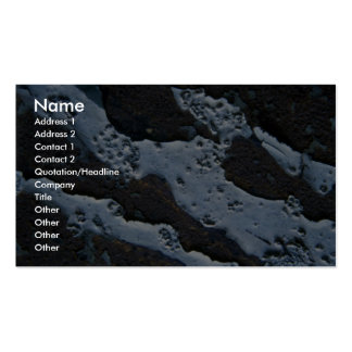 Unique Light Blue And Black Marbled Texture Pack Of Standard Business Cards