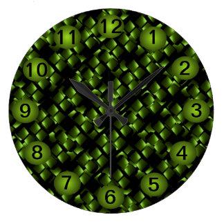 Unique Lime Black Modern Contemporary Decor Large Clock
