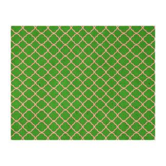 Unique Lime Green Quatrefoil Maroccan Pattern Cork Paper