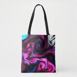 Unique Liquid Art Abstract - Purples Tote Bag