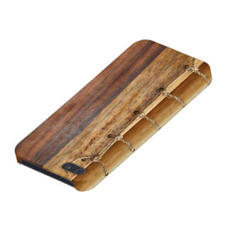 Unique look-wood & string bookbinding iphone case iPhone 5/5S cover