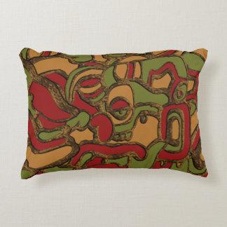 Unique Mayan Hieroglyphs Design Decorative Cushion