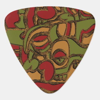 Unique Mayan Hieroglyphs Design Guitar Pick