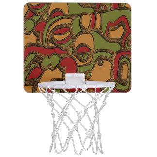 Unique Mayan Hieroglyphs Design Mini Basketball Hoop