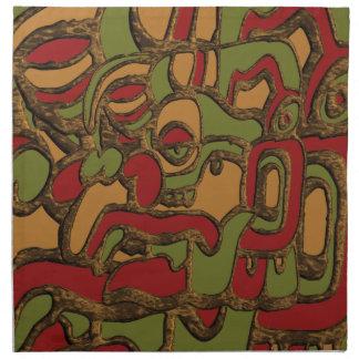 Unique Mayan Hieroglyphs Design Napkin