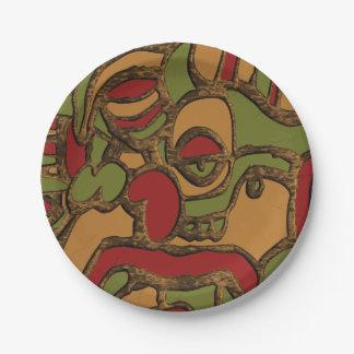 Unique Mayan Hieroglyphs Design Paper Plate