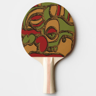 Unique Mayan Hieroglyphs Design Ping Pong Paddle