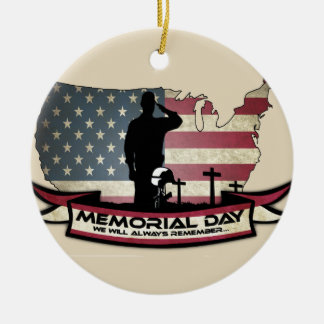 Unique Memorial Day honors Circle Ornament