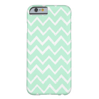 Unique Mint Green Zigzag Chevron Pattern Barely There iPhone 6 Case