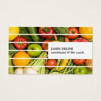 Unique Modern Colorful Vegetables Nutritionist Business Card