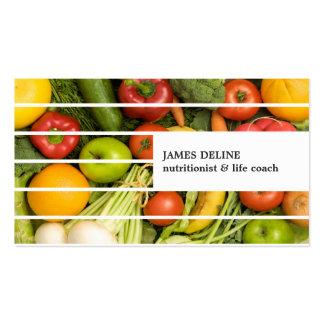Unique Modern Colorful Vegetables Nutritionist Pack Of Standard Business Cards