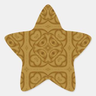 Unique Modern Pattern Star Sticker