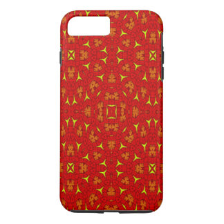 Unique modern red yellow pattern iPhone 7 plus case