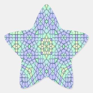 Unique modern stylish pattern star sticker