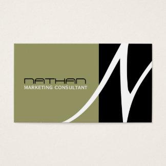 Unique Monogram Business Cards
