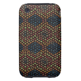 Unique mosaic tile iPhone 3 tough covers