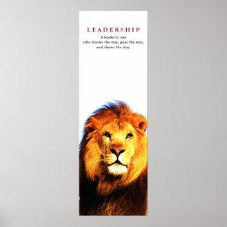 Unique Motivational Leadership Quote Lion Poster