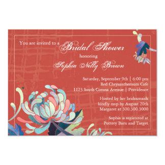 Unique Mum Grunge Red Bridal Shower Invitations