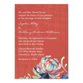 Unique Mum Grunge Red Wedding 13 Cm X 18 Cm Invitation Card