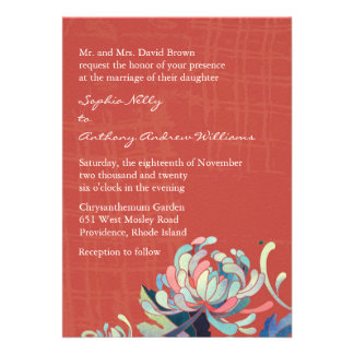 Unique Mum Grunge Red Wedding Invites