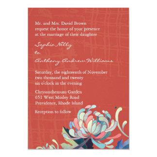 Unique Mum Grunge Red Wedding Invites