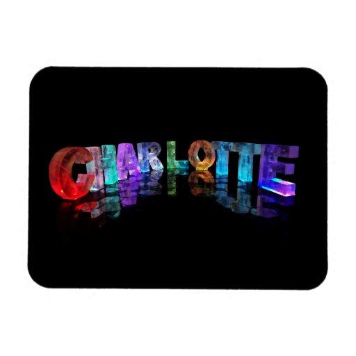 Unique Names - Charlotte in 3D Lights Vinyl Magnets
