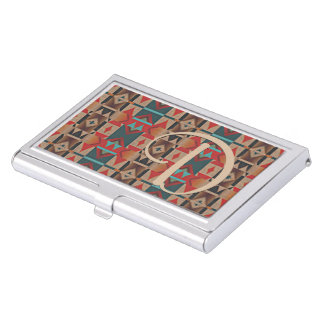 Unique Native American Indian Tribe Mosaic Pattern Business Card Holder
