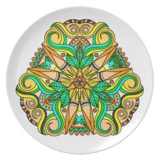 Unique Native American Inspired Design Plate