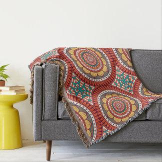 Unique orange floral Boho hippy chic pattern