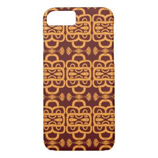 Unique Ornate Maroon Orange Pattern iPhone 8/7 Case