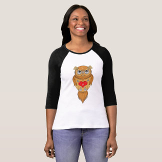 Unique Owl Illustration T-Shirt