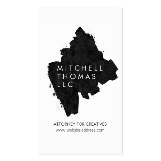 Unique Painted Logo for Attorneys, Lawyers Pack Of Standard Business Cards