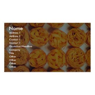 Unique Pasta close-up Business Card