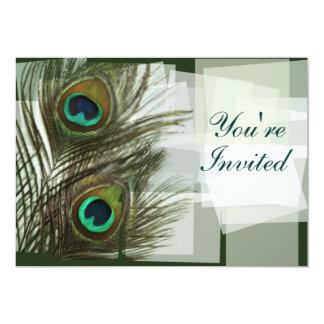 Unique Peacock Feather Invitation