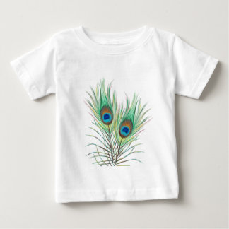 Unique Peacock Feathers Pattern Baby T-Shirt