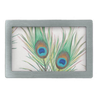 Unique Peacock Feathers Pattern Belt Buckles