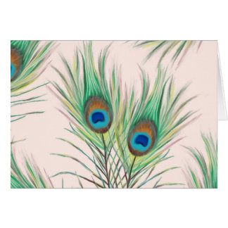 Unique Peacock Feathers Pattern Card