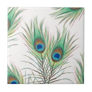 Unique Peacock Feathers Pattern Ceramic Tile