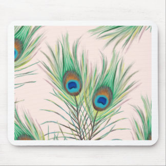 Unique Peacock Feathers Pattern Mouse Pad