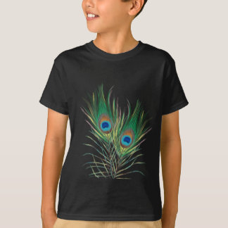 Unique Peacock Feathers Pattern T-Shirt