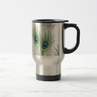 Unique Peacock Feathers Pattern Travel Mug