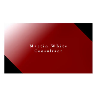 Unique Personal Black Red Professional Modern Pack Of Standard Business Cards