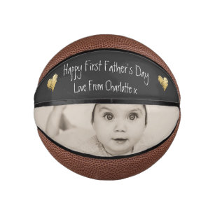 Unique Personalised First Fathers Day Mini Basketball