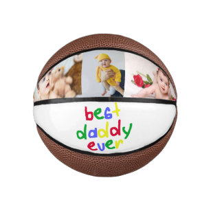Unique Personalized Best Daddy Ever Fathers Day Mini Basketball
